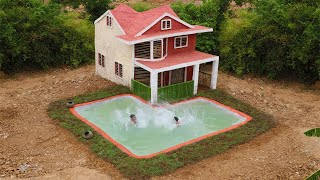 Building The Most Beautiful Villa House And Underground Swimming Pool For Summer (full video)