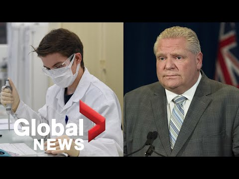 Coronavirus outbreak: Ontario announces $20 million for COVID-19 vaccine research | FULL