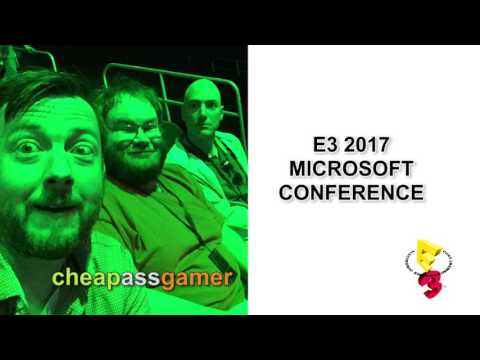 Cheap Ass Gamer CAGCast - Microsoft's E3 2017 Conference Reactions