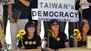 Support from San Diego USA for Taiwan Student's Sun Flower Movement