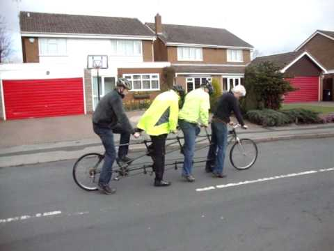 Learning to Quandem - 4 Men & A Bike