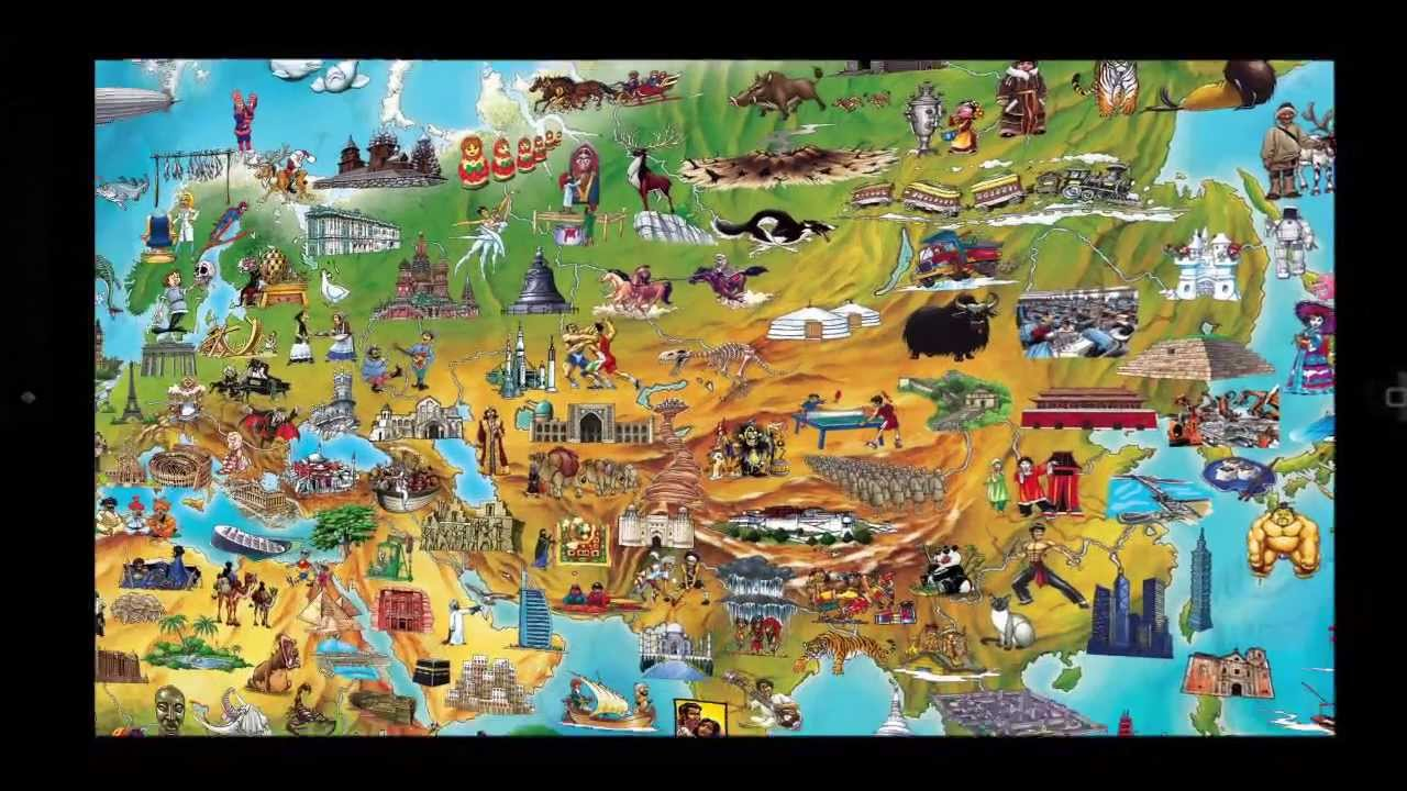 Kids World Map - YouTube
