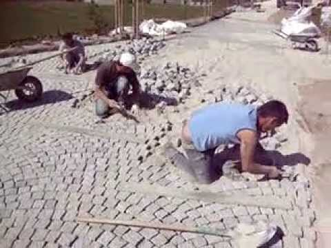 paves granit pose de paves how to install a paver patio. Black Bedroom Furniture Sets. Home Design Ideas