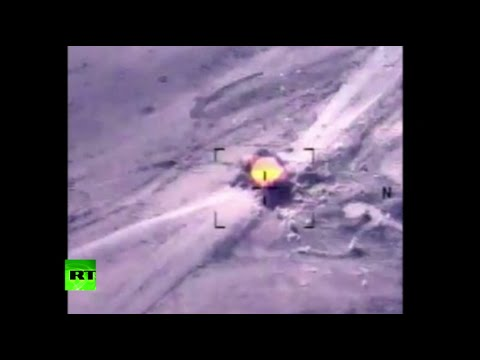 Combat Cam: US airstrikes destroy ISIS armed trucks