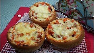 быстрая Пицца в Булочке / Как Быстро Приготовить Пиццу / Пицца Быстро И Вкусно