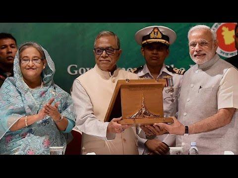 Narendra Modi receives Award of Liberation War Honour on behalf of Atal Bihari Vajpayee