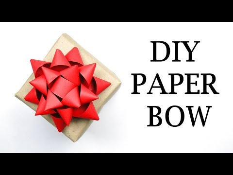 DIY Paper Bow For Gifts | Paper Bow For Gifting | Paper Ribbon