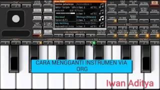 cara mengganti instrumen dalam set org2017 korg i one
