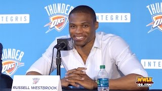 Russell Westbrook Highlights From Press Conference