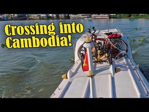 Crossing from Vietnam into Cambodia!