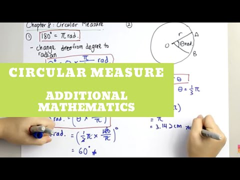 Additional Mathematics - Circular Measure