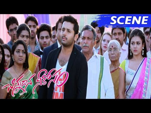 Nithiin Unites Nassar With Family And Won Mishti Love - Climax - Chinnadana Nee Kosam Movie Scenes