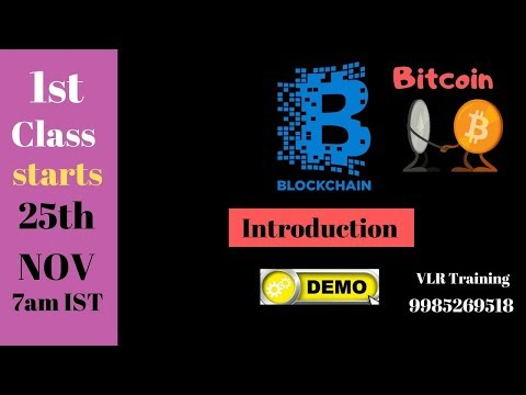Blockchain Demo by Nani  Nov 21 Training|Tutorial |Course| Developer|Videos| Bitcoin 9985269518