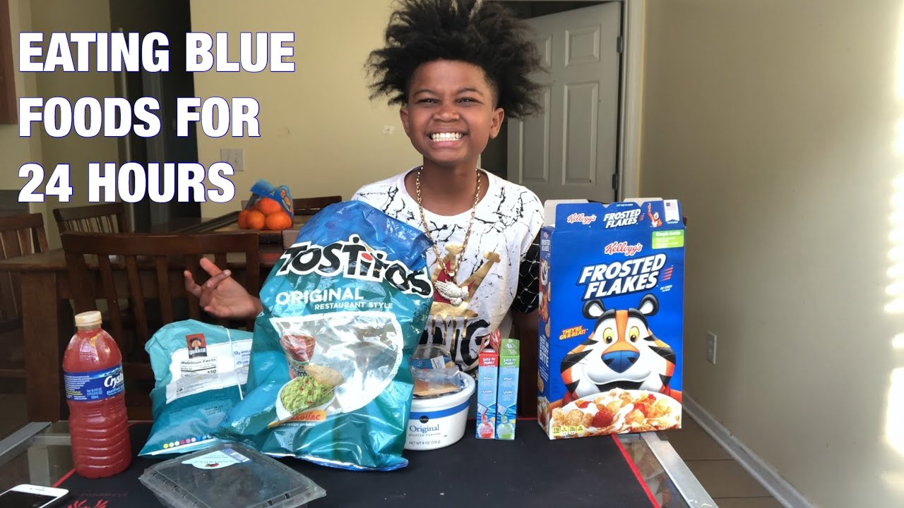 I ONLY ATE BLUE FOODS FOR 24 HOURS CHALLENGE!