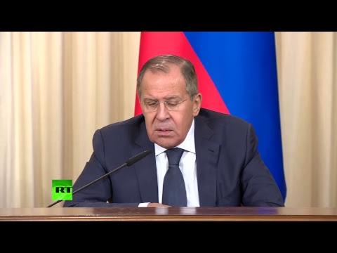 Conférence de presse des ministres russes et mauriciens des Affaires étrangères
