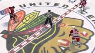 NHL 09 PC season playoff game 3 - Chicago @ Detroit