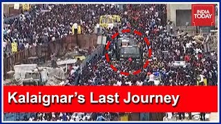 Karunanidhi's Funeral Procession Locks Down Chennai, Millions On The Streets | கலைஞர் 1924-2018