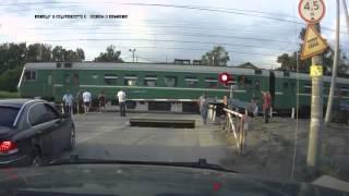 Russia. The accident at the level crossing \ Авария на переезде в Росссии