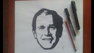 How to Draw George W. Bush tattoo...Como desenhar a tatuagem de George W. Bush