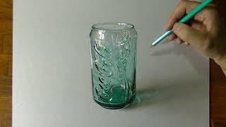 3D Art, Drawing Coca-Cola glass