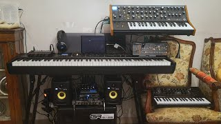 New keyboard stand and new disposition of my home studio