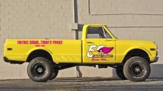New Thrush Rattler Muffler on Chevy K10