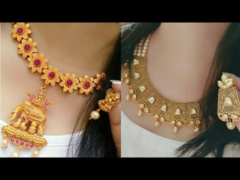 latest stylish gold necklace designs 2018 2019 gold jewellery designs trendy fashion of gold