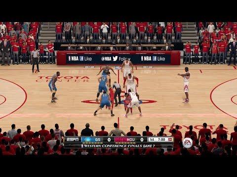 NBA Live 16 Tournament|QF G2|5. Golden State Warriors vs 4. Houston Rockets