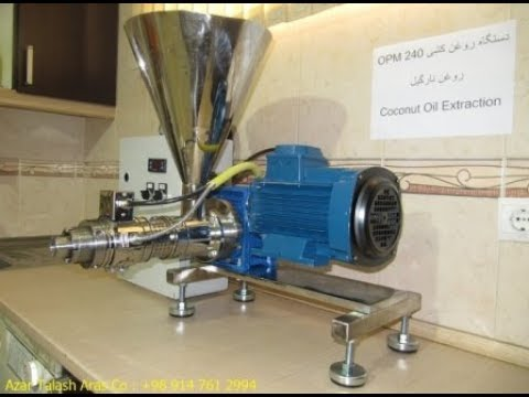Coconut Oil Extraction With Oil Pressing Machine OPM 240