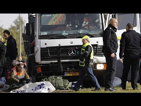 Palestinian man rams truck into Israeli soldiers, killing four