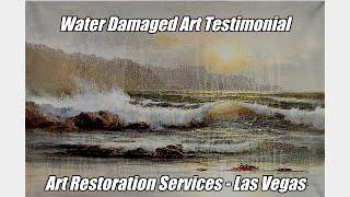 Water Damaged Art - Restoration Services - Las Vegas