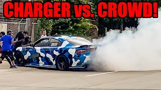 Dodge Charger CRASHES INTO CROWD at Car Meet! (CHARGERS are the New MUSTANGS lol)