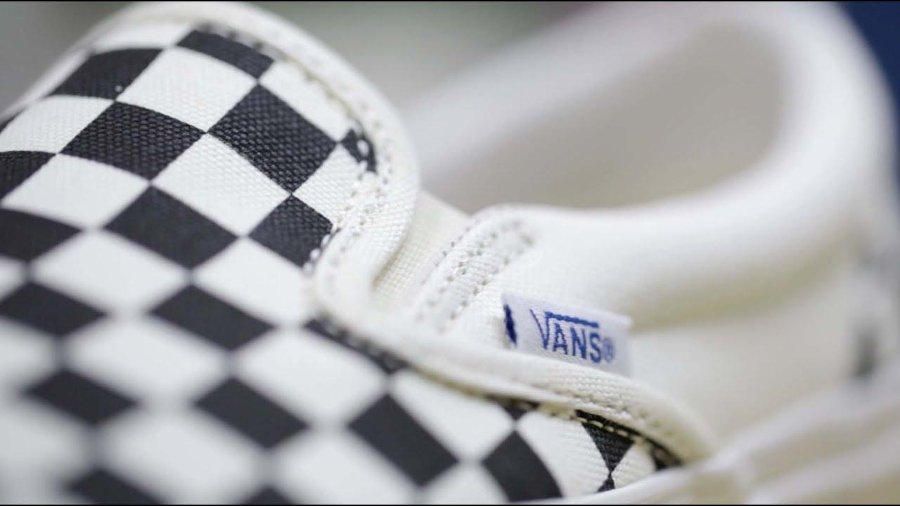 175979d3e76cca Vans Vault OG Classic Slip-On LX Checkerboard (Black   White) - YouTube