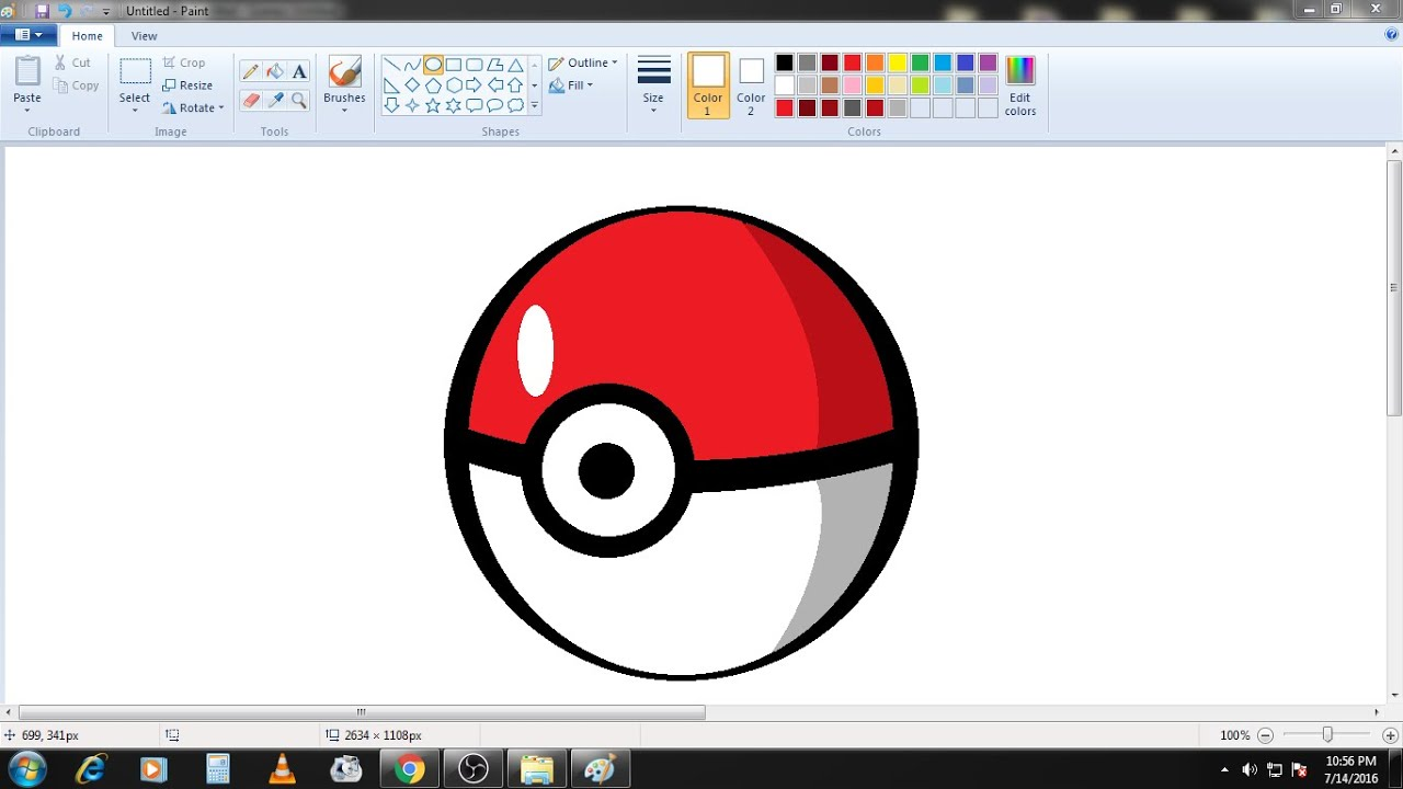 how to draw pokemon ball in ms paint from scratch requested