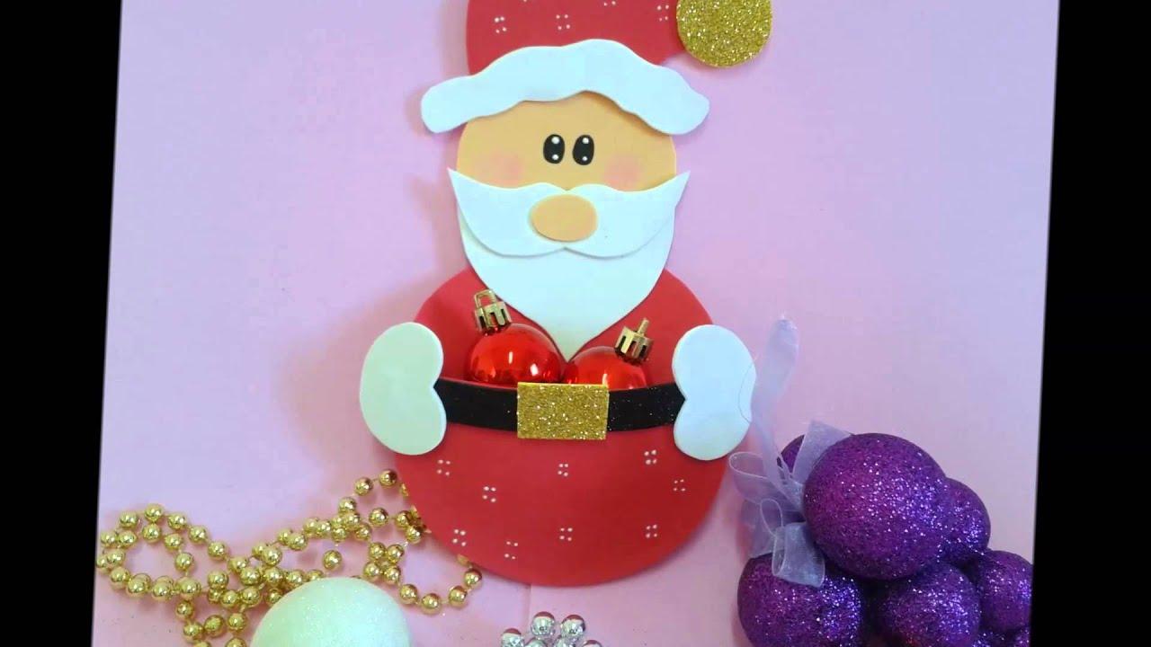 Natal 2015 Le v artes Artesanatos em EVA YouTube -> Decoração Em Eva Natal