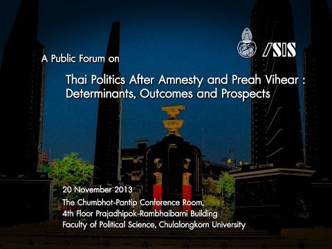 Thai Politics After Amnesty and Preah Vihear 1 of 2