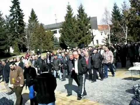 Протест срещу ЧЕЗ в Гоце Делчев/Protest against CEZ energy group