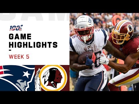 Patriots vs. Redskins Week 5 Highlights | NFL 2019