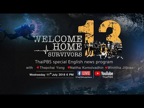"""🔴 Watch LIVE: 6 PM """"Welcome Home 13 Survivors"""" (11th July 2018)"""