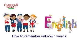 Английский для детей. How to remember unknown words. Обучающее видео для детей.(Английский для детей. How to remember unknown words. Обучающее видео для детей. Ссылка на видео: http://youtu.be/r__BuBHMXb4 Аудиосказ..., 2015-02-15T18:53:08.000Z)
