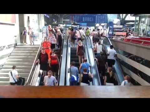 Zürich Hauptbahnhof - Rolltreppe