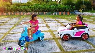 Mainan Anak Naik Odong odong Mobil Mainan Anak - Kids Driving Power Wheels Ride on Car Kiddies Rides