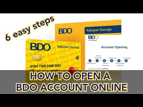 100 PESOS ONLY OPENING OF BDO ACCOUNT ONLINE,