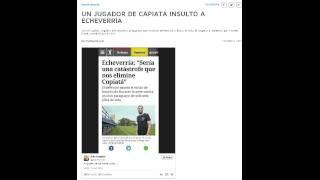 Jugador de Capiata Insulta a Echeverria (Jugador de Boca Juniors)