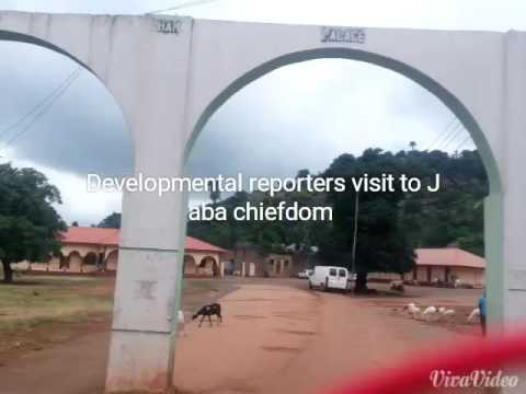 Developmental reporters visit to Jaba chiefdom