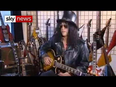 Sky News' Guitar Class With Guns N'Roses Slash