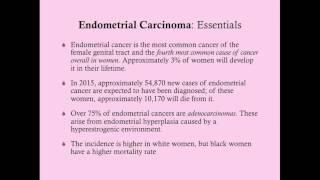 Endometrial Cancer - CRASH! Medical Review Series