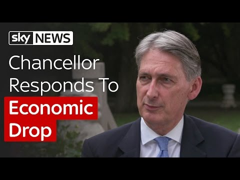 Chancellor Philip Hammond Responds To Economic Drop