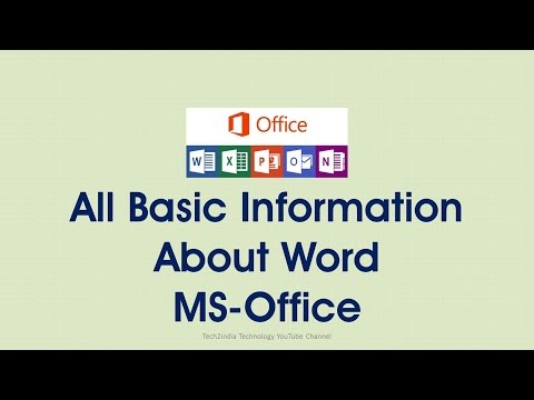 All Basic Information  About Word  MS-Office