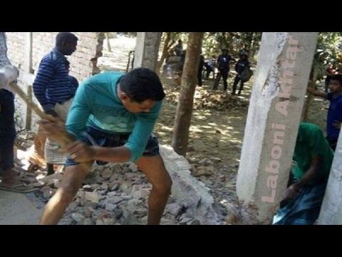 ভেঙ্গে ফেলা হচ্ছে এমপিপুত্রের তোলা সেই দেয়াল | Latest Bangla News By Laboni Akhtar